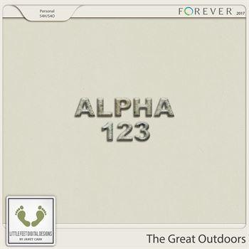 The Great Outdoors Stone Alpha Digital Art - Digital Scrapbooking Kits