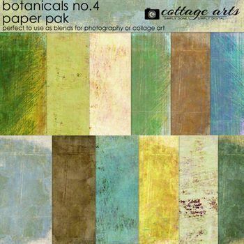 Botanicals 4 Paper Pak Digital Art - Digital Scrapbooking Kits