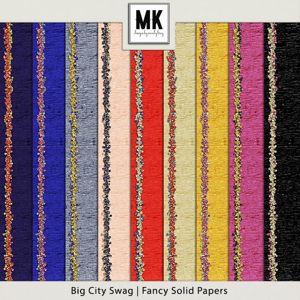 Big City Swag - Fancy Solid Papers Digital Art - Digital Scrapbooking Kits
