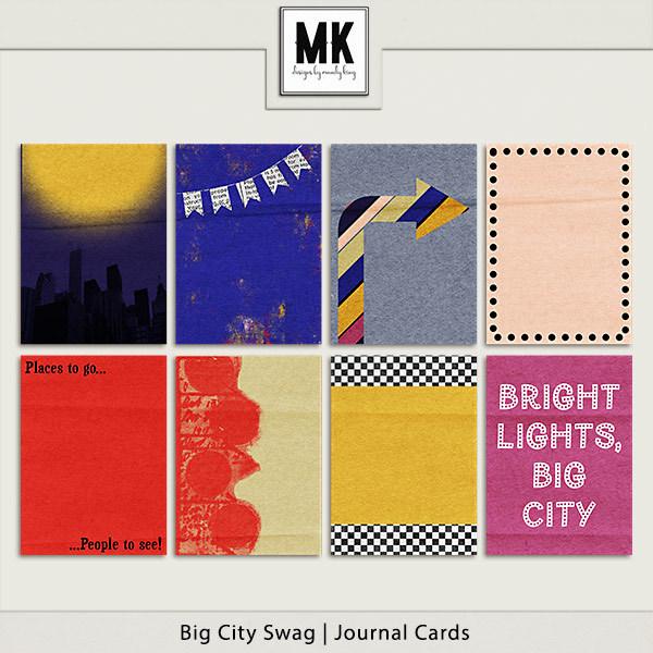 Big City Swag - Journal Cards Digital Art - Digital Scrapbooking Kits
