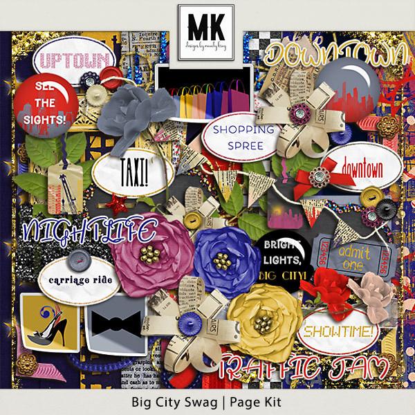 Big City Swag - Page Kit Digital Art - Digital Scrapbooking Kits