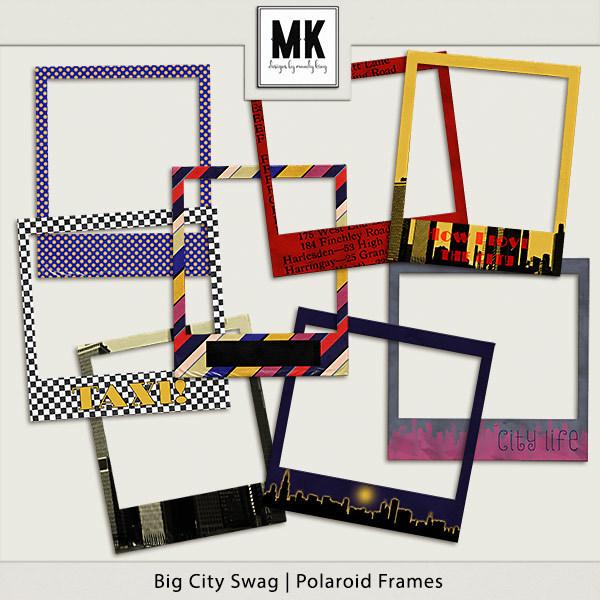 Big City Swag - Polaroid Frames Digital Art - Digital Scrapbooking Kits