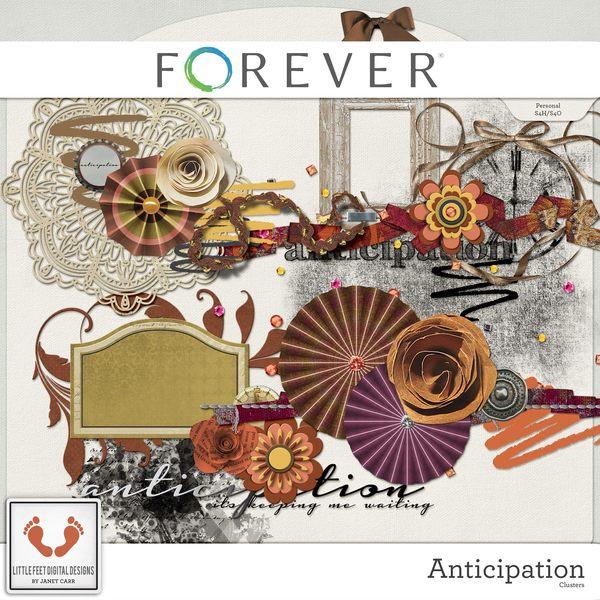 Anticipation Clusters Digital Art - Digital Scrapbooking Kits