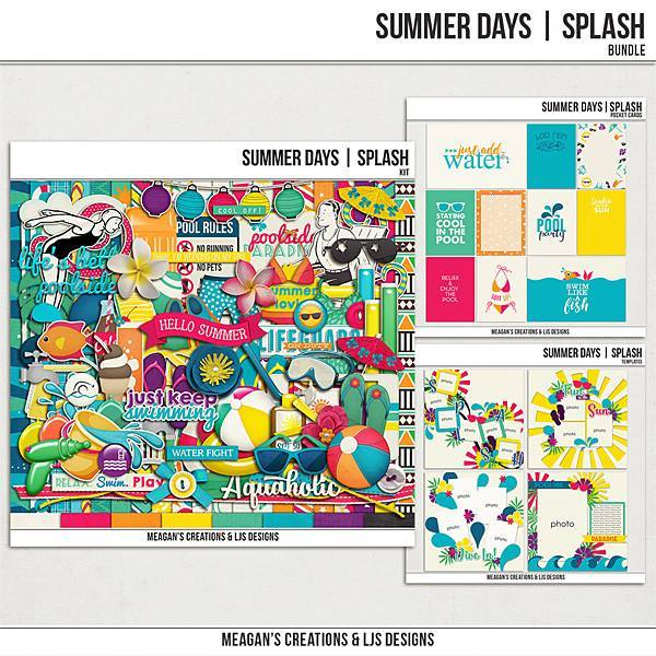 Summer Days - Splash Bundle Digital Art - Digital Scrapbooking Kits