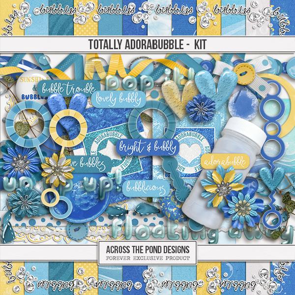Totally Adorabubble - Page Kit Digital Art - Digital Scrapbooking Kits
