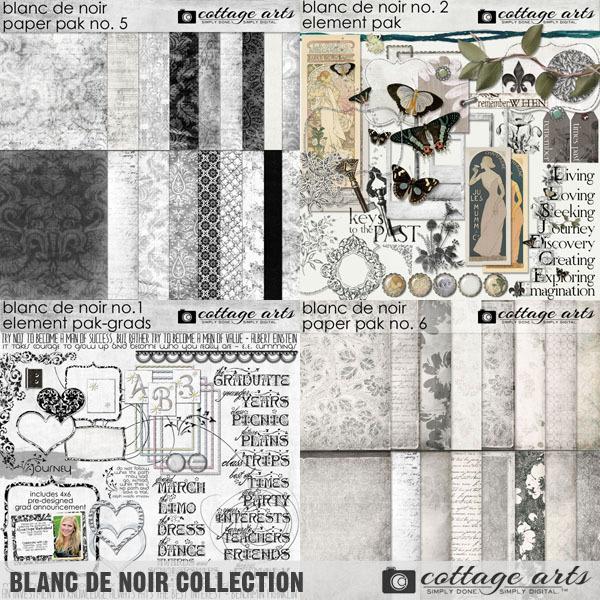 Blanc De Noir Collection Digital Art - Digital Scrapbooking Kits