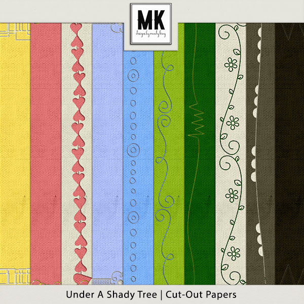 Under A Shady Tree - Cut Out Papers Digital Art - Digital Scrapbooking Kits