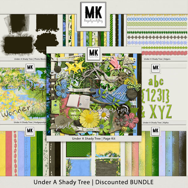 Under A Shady Tree - Discounted Bundle Digital Art - Digital Scrapbooking Kits