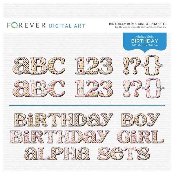 Birthday Boy & Girl Alpha Sets