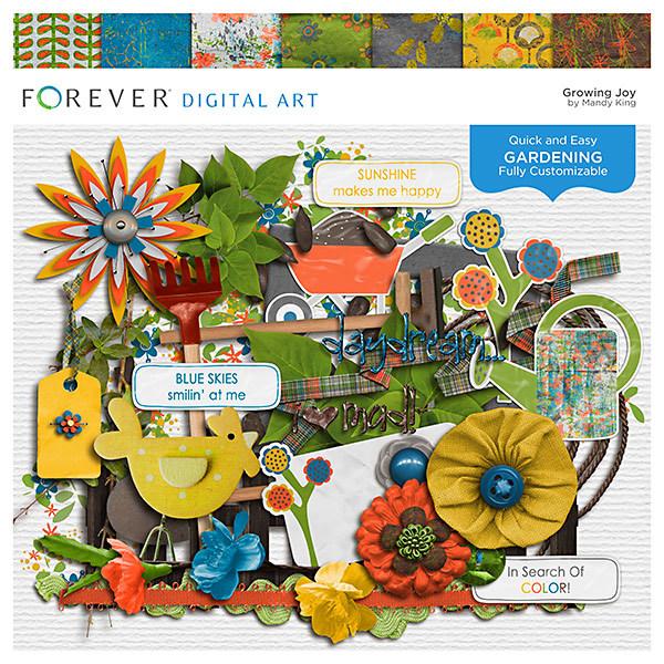 Growing Joy Digital Art - Digital Scrapbooking Kits
