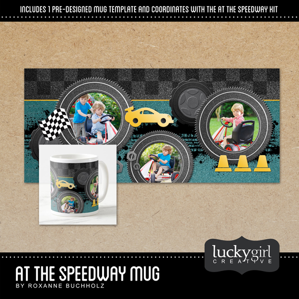 At The Speedway Mug Digital Art - Digital Scrapbooking Kits