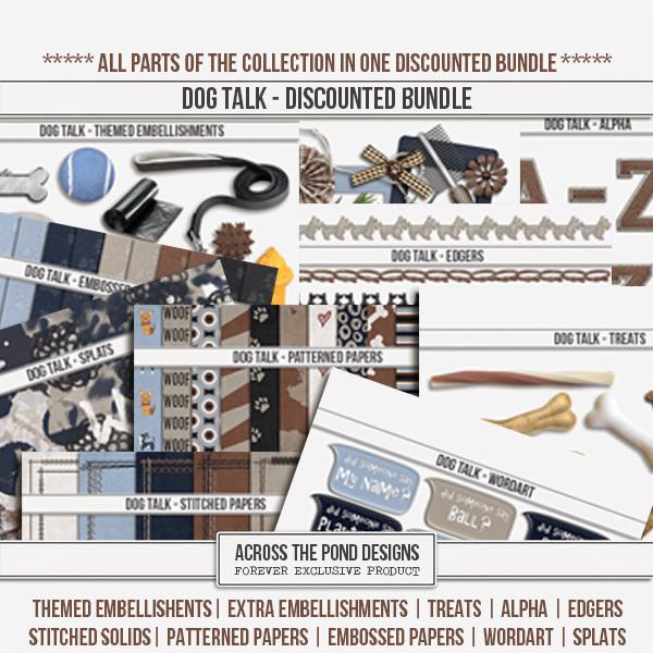 Dog Talk - Discounted Bundle Digital Art - Digital Scrapbooking Kits