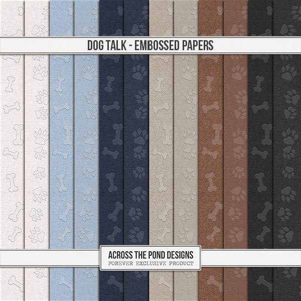 Dog Talk - Embossed Papers