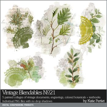 Vintage Blendables No. 21 Digital Art - Digital Scrapbooking Kits