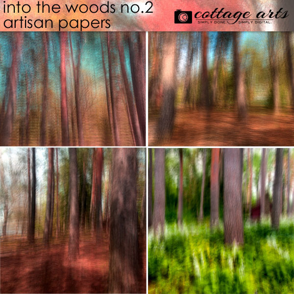 Into The Woods 2 Artisan Papers Digital Art - Digital Scrapbooking Kits