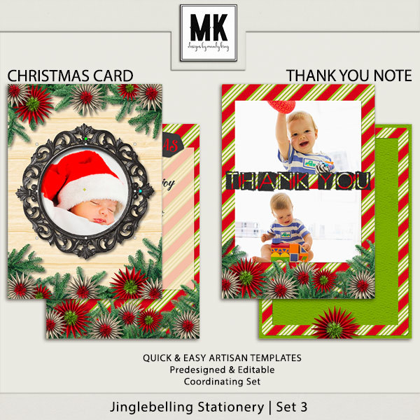 Jinglebelling - Christmas Card Set III Digital Art - Digital Scrapbooking Kits