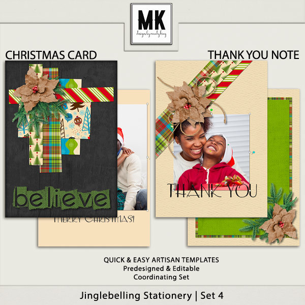 Jinglebelling - Christmas Card Set IV Digital Art - Digital Scrapbooking Kits