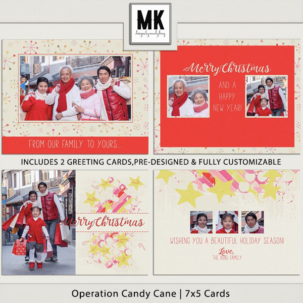 Operation Candy Cane - 7x5 Cards Digital Art - Digital Scrapbooking Kits