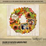 Colors Of Autumn Wreath Print