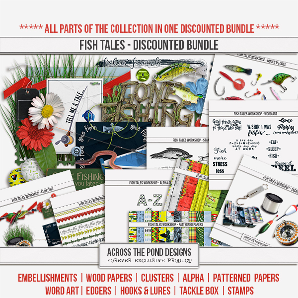 Fish Tales Workshop - Discounted Bundle Digital Art - Digital Scrapbooking Kits