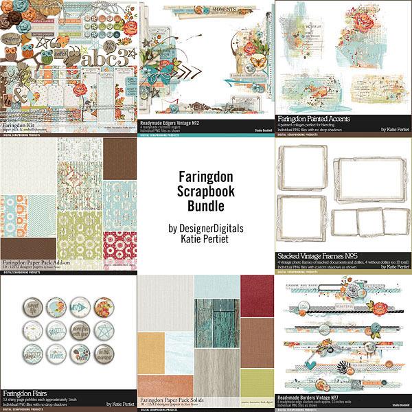Faringdon Scrapbooking Bundle Digital Art - Digital Scrapbooking Kits