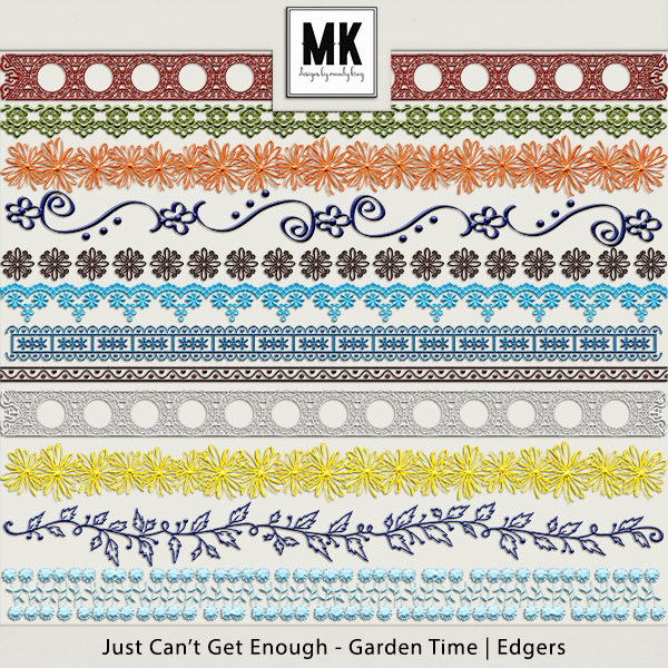 Just Can't Get Enough Garden Time - Edgers Digital Art - Digital Scrapbooking Kits