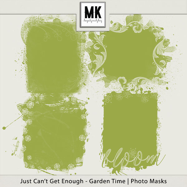 Just Can't Get Enough Garden Time - Photo Masks Digital Art - Digital Scrapbooking Kits