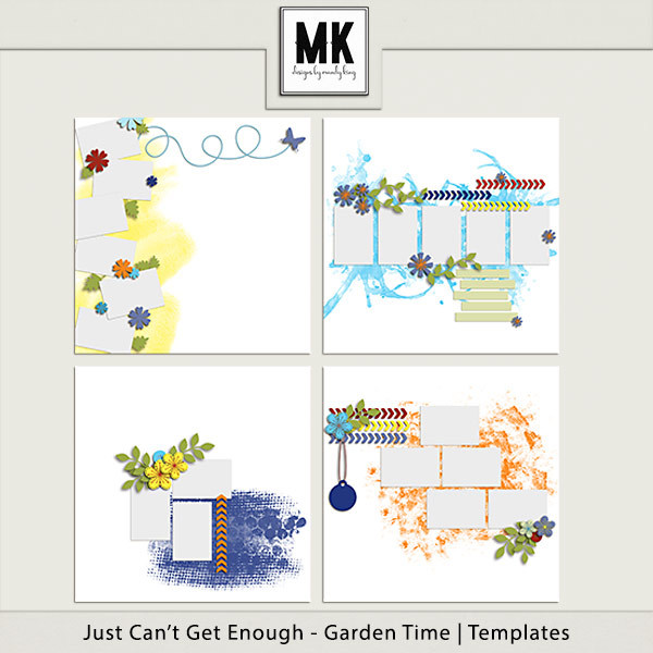 Just Can't Get Enough Garden Time - Templates Digital Art - Digital Scrapbooking Kits