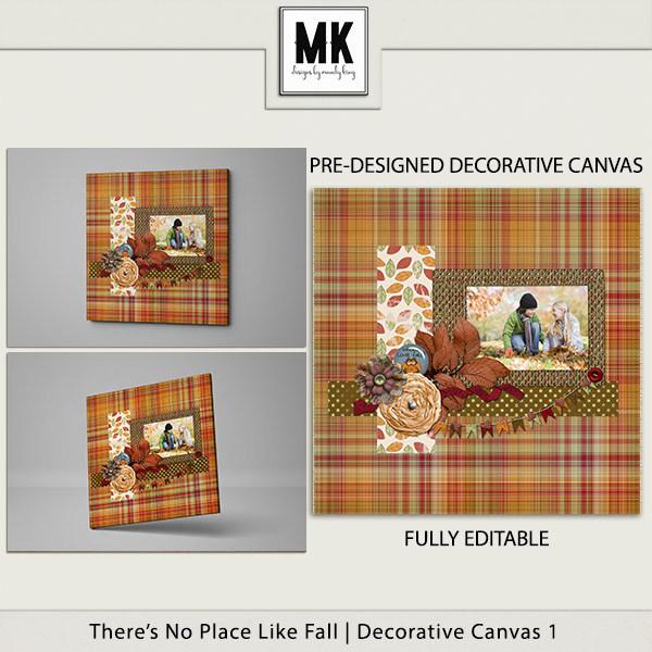 There's No Place Like Fall - Decorative Canvas 1 Digital Art - Digital Scrapbooking Kits