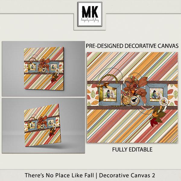 There's No Place Like Fall - Decorative Canvas 2 Digital Art - Digital Scrapbooking Kits