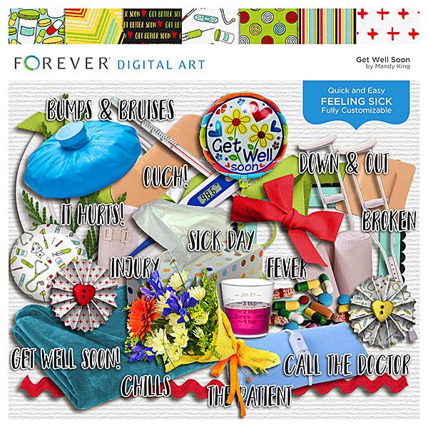 Get Better Soon Digital Art - Digital Scrapbooking Kits