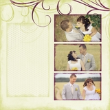 Wedding Romantic Autumn 12x12 Digital Predesigned Pages