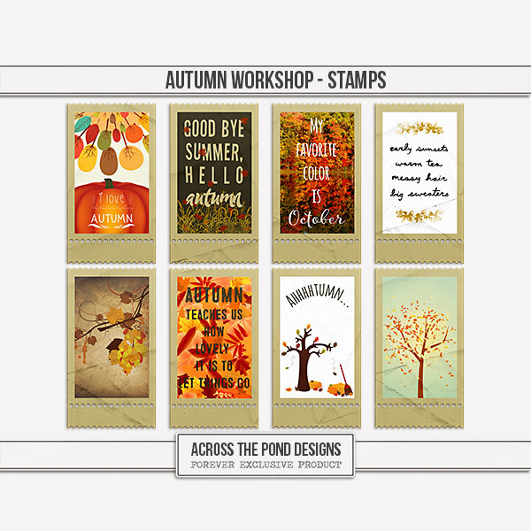 Autumn Workshop - Stamps Digital Art - Digital Scrapbooking Kits