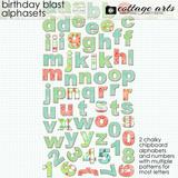 Birthday Blast Alphasets