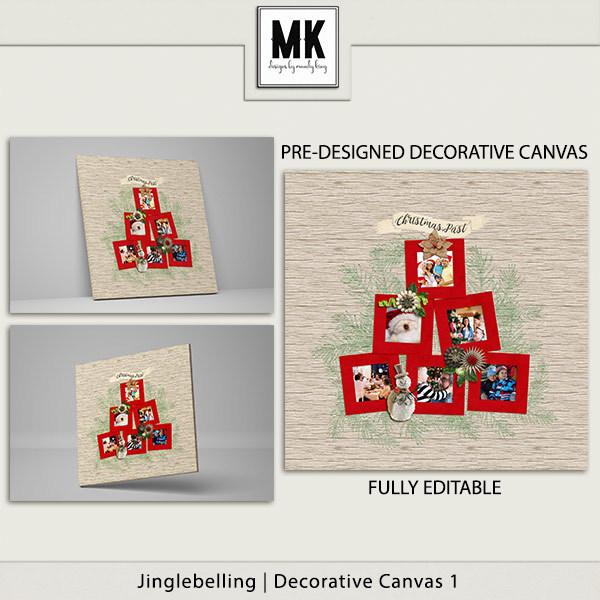 Jinglebelling - Decorative Canvas 1 Digital Art - Digital Scrapbooking Kits