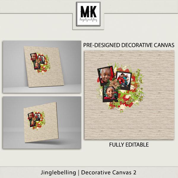 Jinglebelling - Decorative Canvas 2 Digital Art - Digital Scrapbooking Kits
