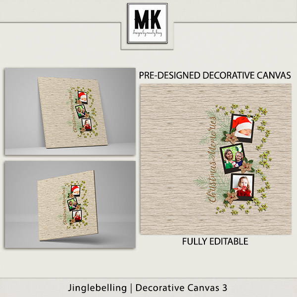 Jinglebelling - Decorative Canvas 3 Digital Art - Digital Scrapbooking Kits
