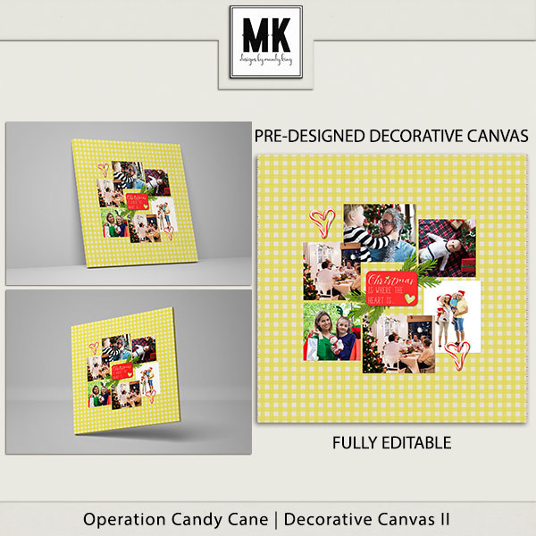 Operation Candy Cane - Decorative Canvas 2 Digital Art - Digital Scrapbooking Kits