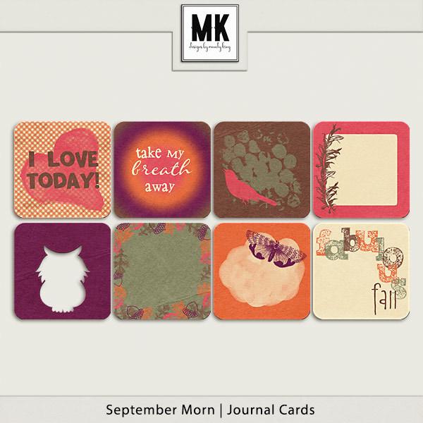 September Morn - Journal Cards Digital Art - Digital Scrapbooking Kits