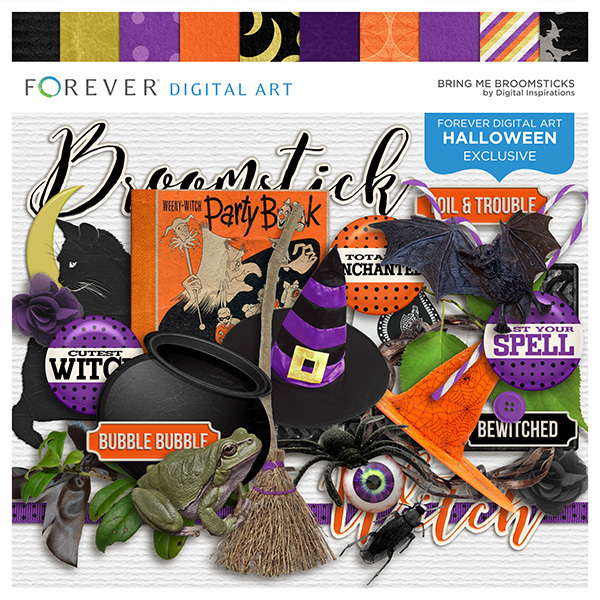 Bring Me Broomsticks Digital Art - Digital Scrapbooking Kits