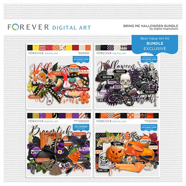 Bring Me Halloween Bundle Digital Art - Digital Scrapbooking Kits