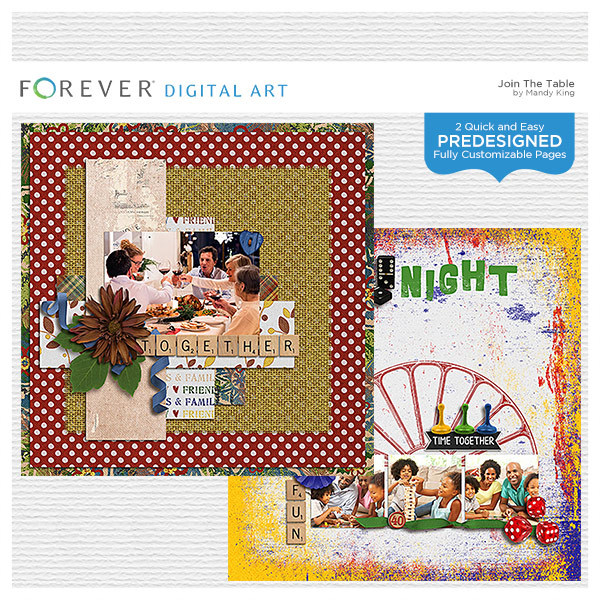 Join The Table - Predesigned Pages Digital Art - Digital Scrapbooking Kits