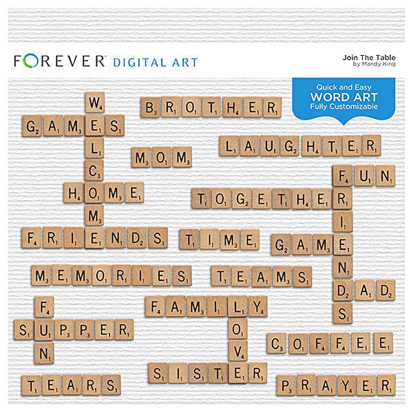 Join The Table - Word Art Digital Art - Digital Scrapbooking Kits
