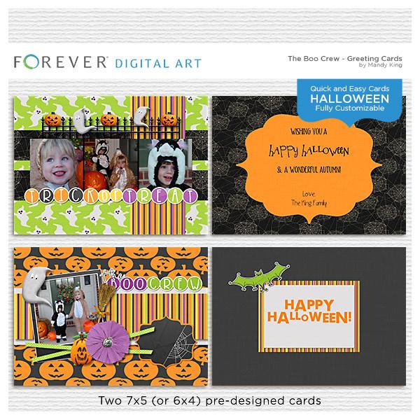 The Boo Crew - Halloween Cards Digital Art - Digital Scrapbooking Kits