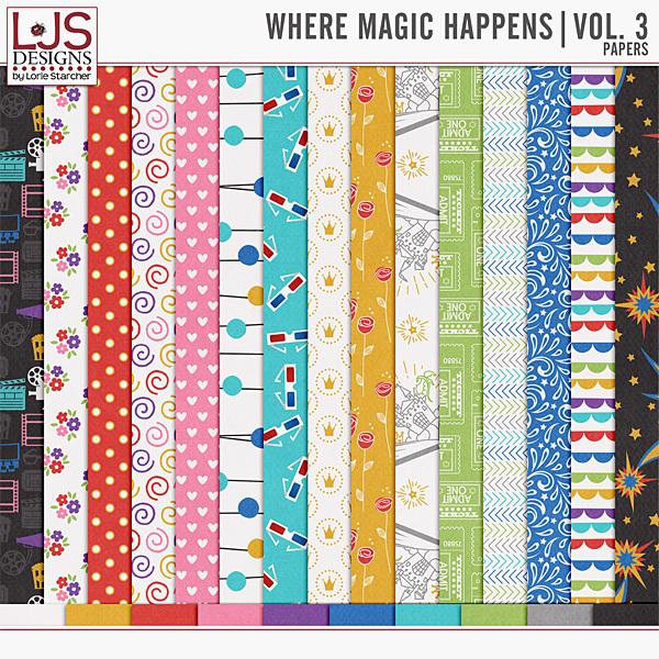 Where Magic Happens - Vol. 3 Papers Digital Art - Digital Scrapbooking Kits
