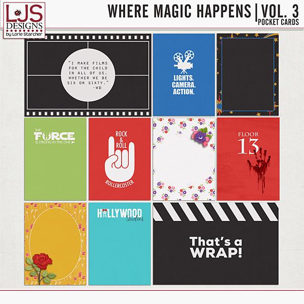 Where Magic Happens - Vol. 3 Pocket Cards Digital Art - Digital Scrapbooking Kits