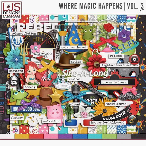 Where Magic Happens - Volume 3 Kit Digital Art - Digital Scrapbooking Kits