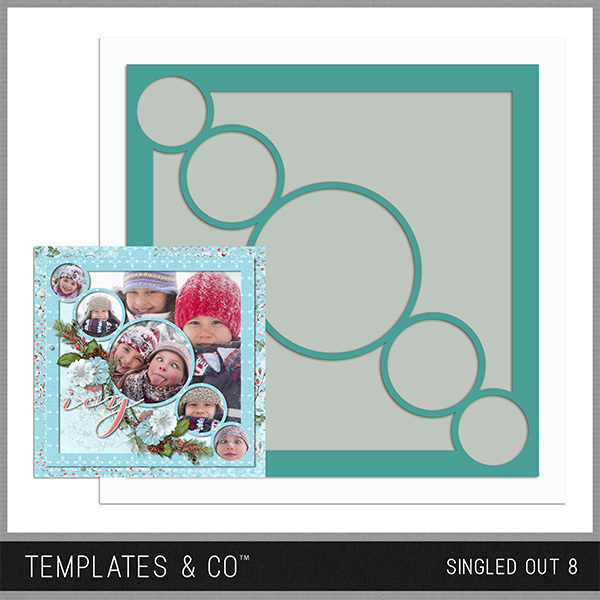 Singled Out 8 Digital Art - Digital Scrapbooking Kits