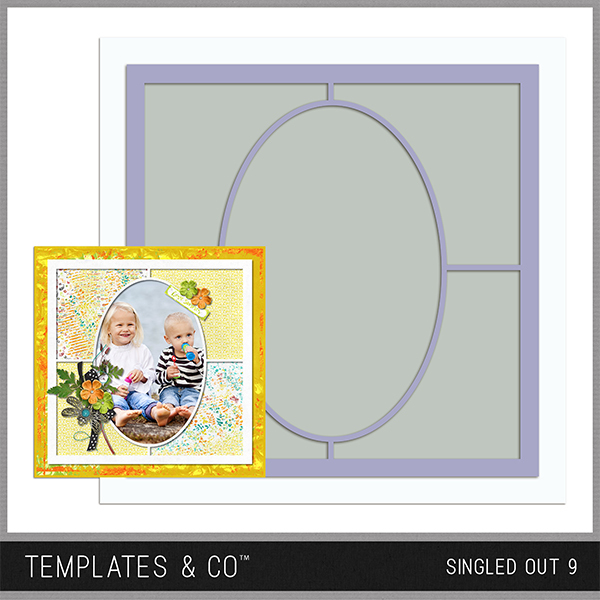 Singled Out 9 Digital Art - Digital Scrapbooking Kits