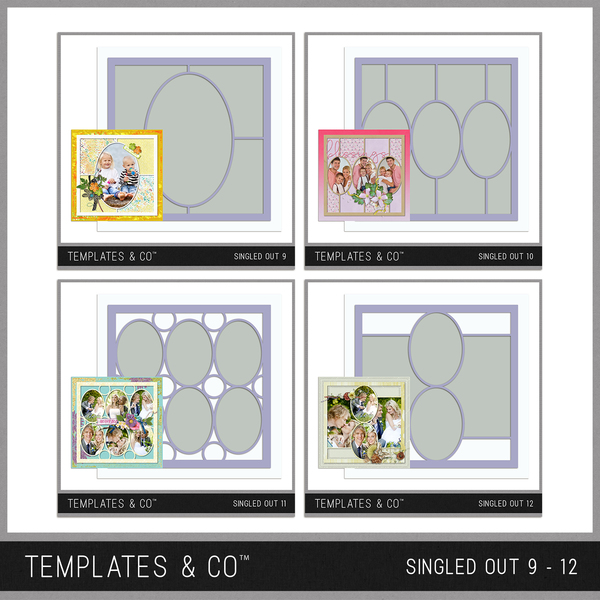 Singled Out 9 - 12 Bundle Digital Art - Digital Scrapbooking Kits